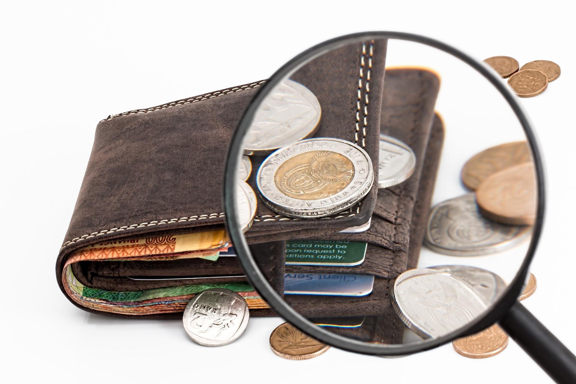 Soldi alla rinfusa sul portafoglio
